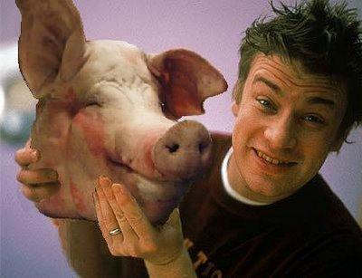 Pig Headed: Jamie Oliver has accused UK government ministers of ignoring research on the benefits of healthy school meals