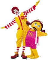 Ronald McDonald and Birdie