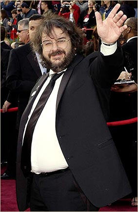 Peter Jackson as most of us picture him - portly and bespectacled before he lost 70lbs