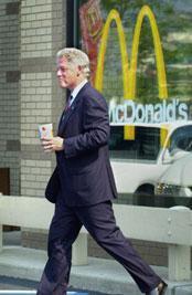 Bill Clinton:  ditching burgers for a vegan diet